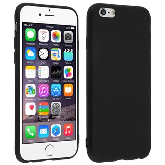Coque iPhone 6S / 6 Coque Silicone Gel Souple Mat Protection Antirayures Noir
