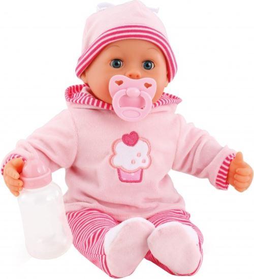 Bayer poupée bébé avec accessoires First Words 38cm rose trois pièces