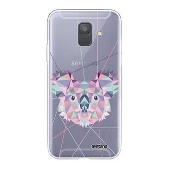 Coque pour Samsung Galaxy A6 2018 360 intégrale transparente Koala outline Tendance [Evetane®]