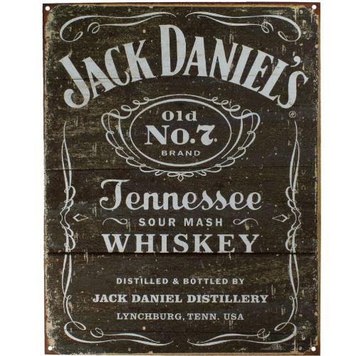 Plaque métallique Rectangulaire Jack Daniel's 40.5 x 31.5 cm