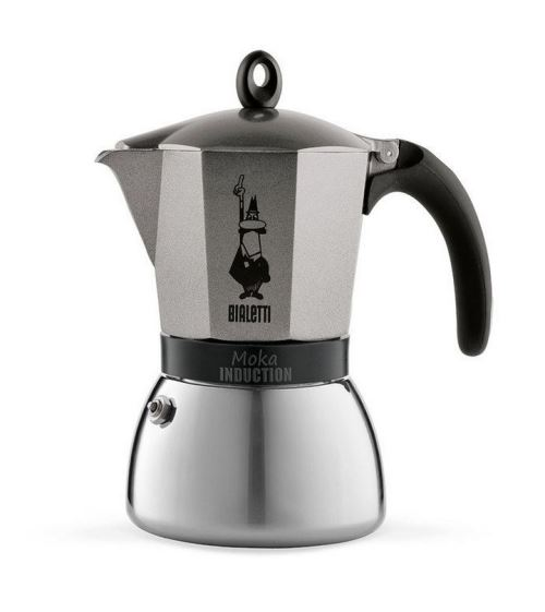 Cafetière italienne Bialetti Moka Induction 9 tasses Anthracite