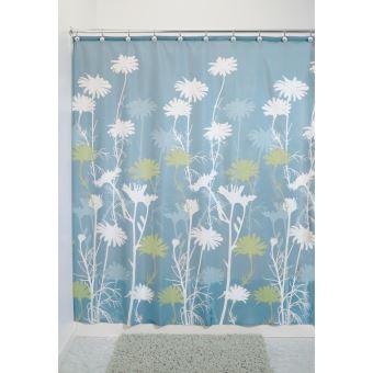 Interdesign Daizy Rideau Douche Rideau Baignoire En Polyester De 183 0 Cm X 183 0 Cm Rideau Salle De Bain Intemporel A Tenue Stable Bleu Vert