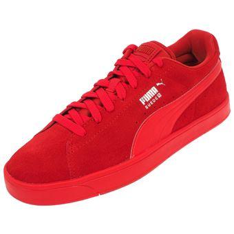 a60924e5a28 Chaussures basses cuir ou simili Puma Suede s rouge Rouge taille   44 réf    58921