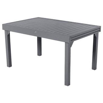 Table extensible 10 places Piazza composite anthracite/graphite Hespéride