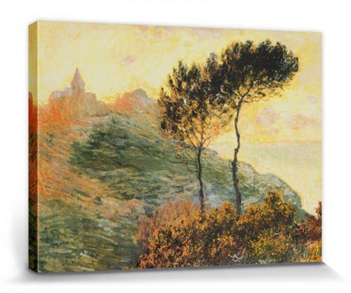 Claude Monet Poster Reproduction Sur Toile, Tendue Sur Châssis - L'Église De Varengeville, 1882 (30x40 cm)