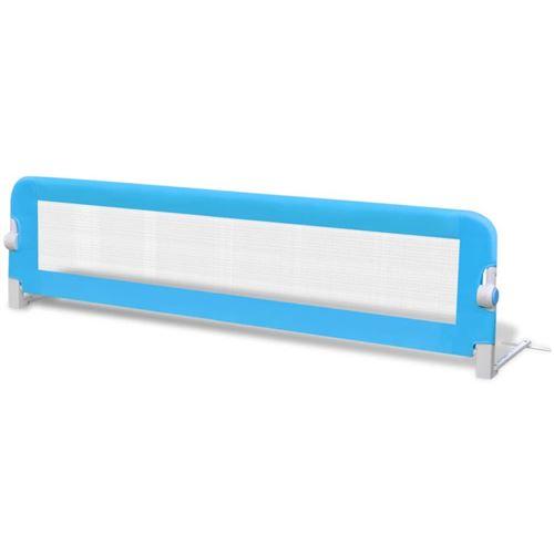 vidaXL Barrières de lit pour enfants 150 x 42 cm Bleu