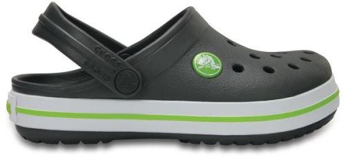 Crocs crocband enfants sabots <strong>chaussures</strong> sandales en graphite volt vert 204537 0a1