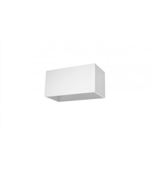 Applique murale QUAD MAXI aluminum blanc 2 ampoules