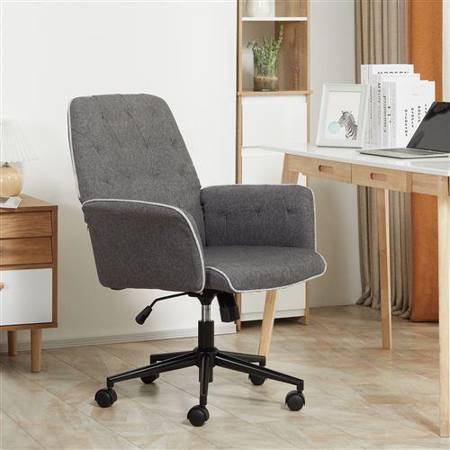 Fauteuil de bureau capitonné chaise de bureau hauteur