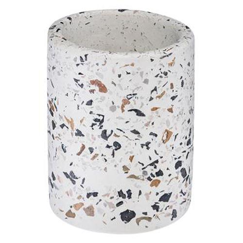 Pot à Crayons à Motifs Terrazzo 10cm Blanc