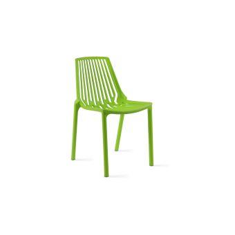 Chaise de jardin ajourée en plastique - Vert - Mobilier de ...