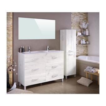STELLA Ensemble salle de bain double vasque avec miroir L ...