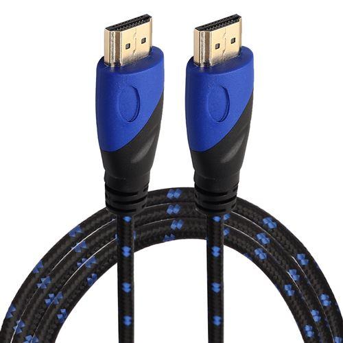 (#23) 1.8m HDMI 1.4 Version 1080P Nylon Woven Line Blue Black Head HDMI Male to HDMI Male Audio Vide