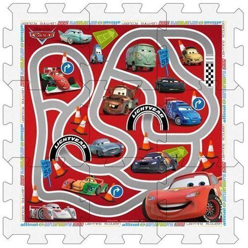 Cars Tapis Puzzle En Mousse Avec Sacoche, 9 Pieces