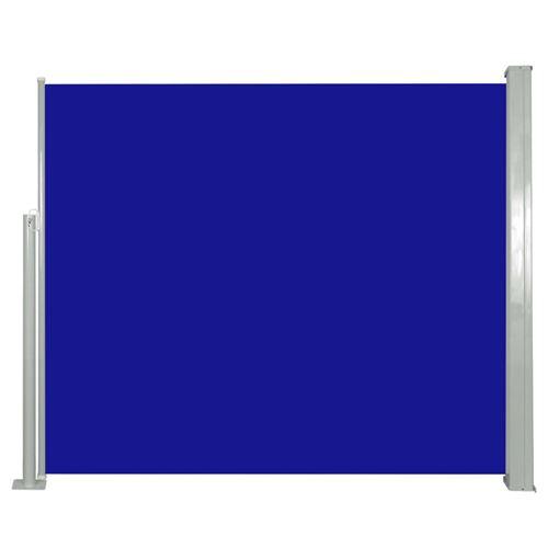 vidaXL Auvent latéral rétractable 120 x 300 cm Bleu