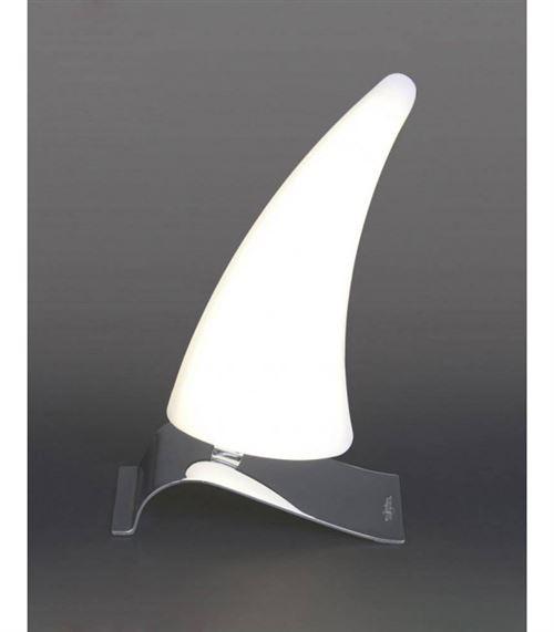 Lampe de Table Mistral Right 6W LED 3000K, 540lm, chrome poli/acrylique givré