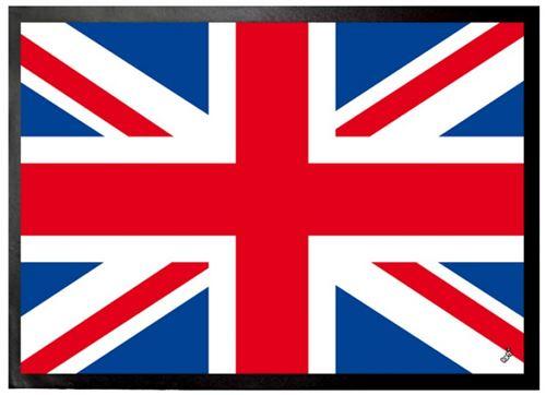 Drapeaux Du Monde Paillasson Essuie-Pieds - Drapeau Du Royaume Uni, Union Jack (70x50 cm)
