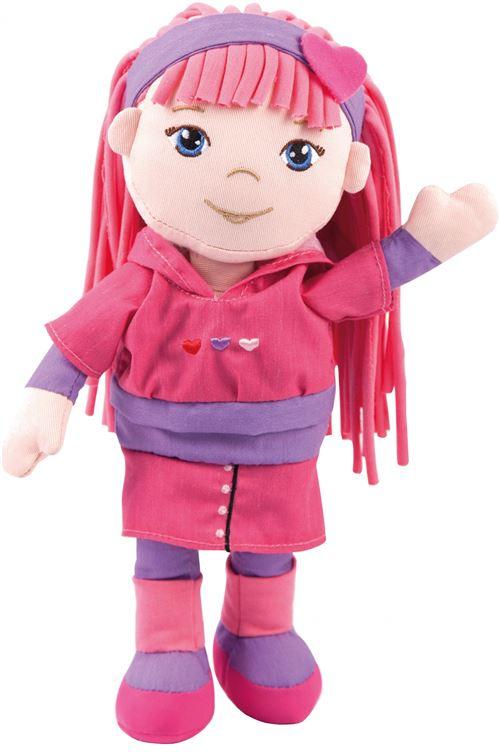 Bayer doudou poupée Rag Doll Soft Friends de Rag Doll Soft Friends rose 30cm