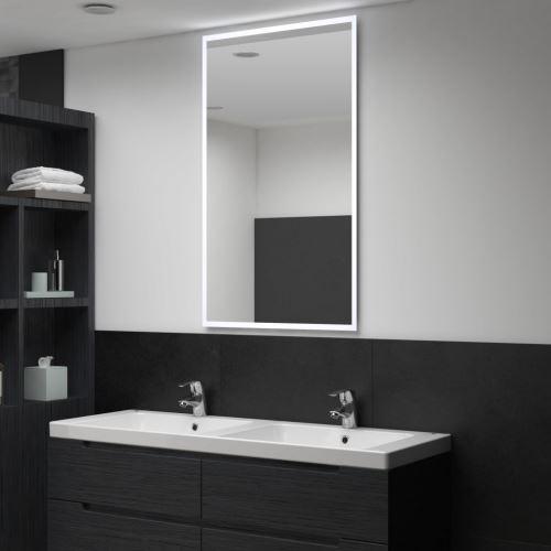 Miroir mural à LED pour salle de bains 60 x 100 cm