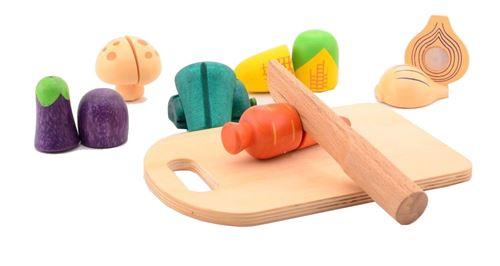Jouéco légumes coupés en bois 14 pièces