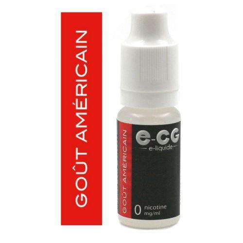 E-liquide E-CG - Américain 0 mg/ml
