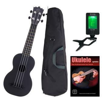 Classic Cantabile BeachBuddy Blackbird ukulele SET y ...