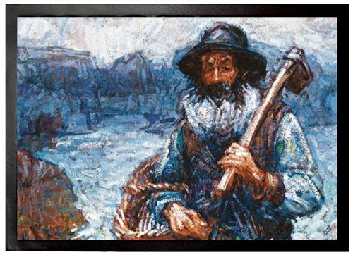 John Peter Russell Paillasson Essuie-Pieds - Mon Ami Polite, Père Polyte, 1900 (50x70 cm)