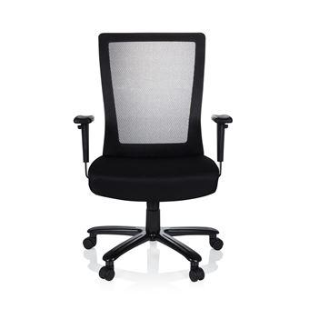 Bureau Chaise Extender Office Noir Xxl De Tissu Hjh Pivotante Maille mNnw80