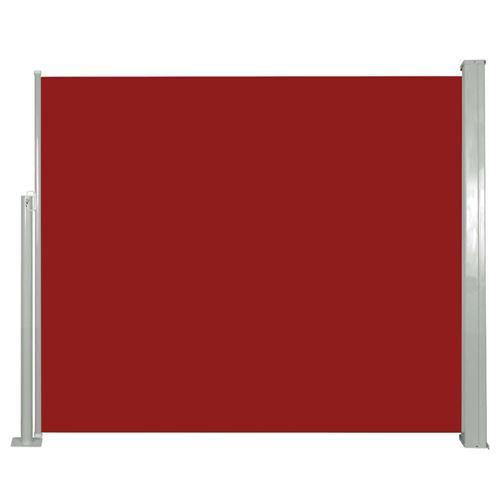 vidaXL Auvent latéral rétractable 120 x 300 cm Rouge