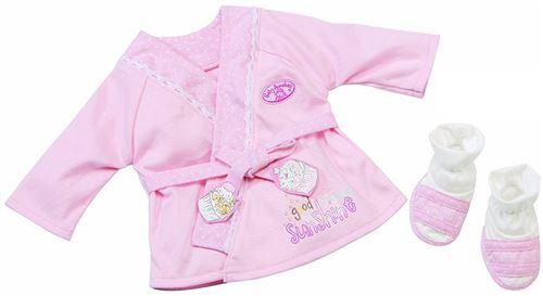 Baby annabell set de bain peignoir et chaussons : habit poupee 46 cm - zapf za130