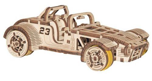 Wooden City kit de maquette Roadster 17 cm en bois naturel 111 pièces