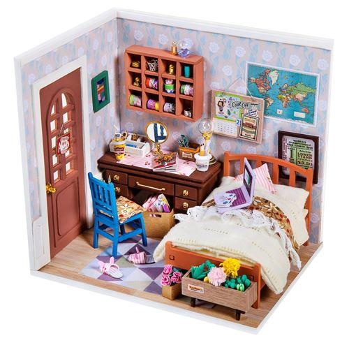 Robotime bricolage Maison de poupée Anne - kit de construction 23 cm bois/textile 3 pièces