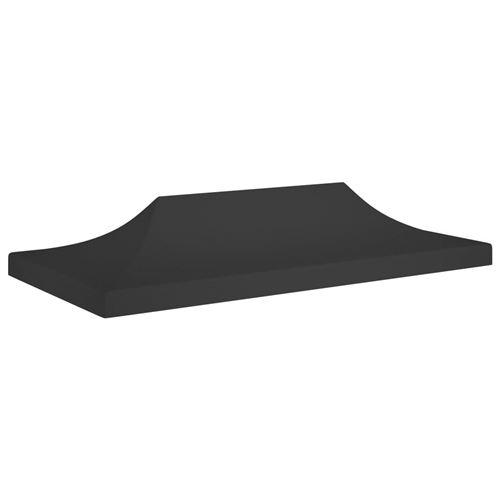 Toit de Tente de Réception 6X3 M 270 G/M² - Noir