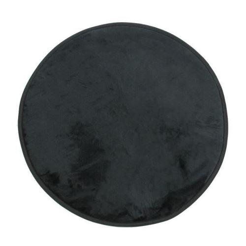 FLANELLE Tapis Rond 70 cm Noir