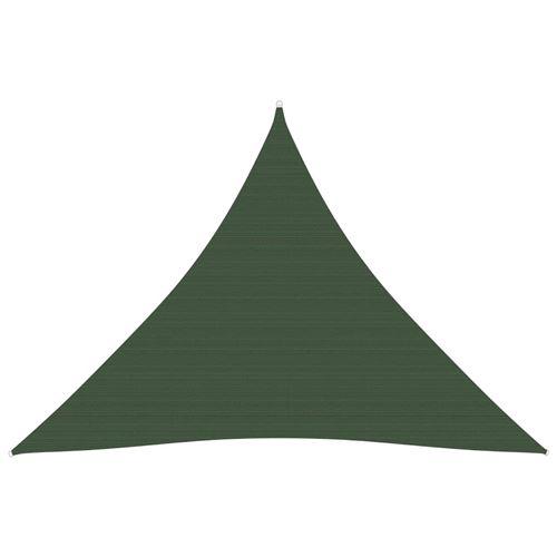 Voile d'ombrage 160 g/m² Vert foncé 4x4x4m PEHD