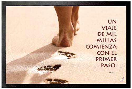 Motivation Paillasson Essuie-Pieds - Un Viaje De Mil Millas Comienza Con El Primer Paso (40x60 cm)