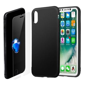 coque iphone x silicone noir apple