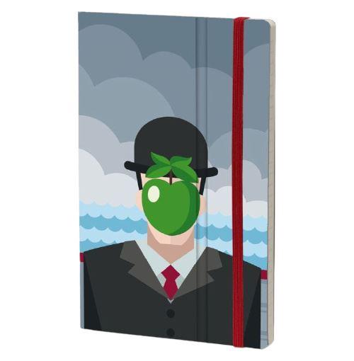 Stifflex carnet Magritte 13 x 21 cm papier gris