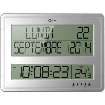 Horloge murale radiopiloté(e) Orium 11891 gris 43 cm x 32.5 cm x 3.2 ...