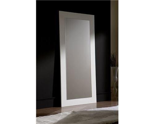 Miroir mural blanc ou noir laqué design JENNY-L 90 x H 200 cm