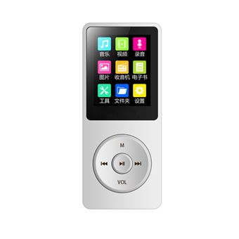 Uniscom Baladeur portable Lecteur MP3 8Go Blanc