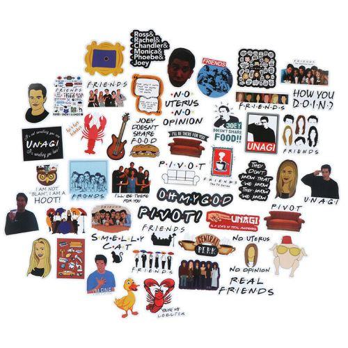 50pcs Amis autocollants bricolage scrapbooking album bagages téléphone portable