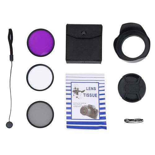 67mm UV CPL FLD Lens Filter Kit avec Capuchon Lens Cap Capuchon Accessoire de Photographie
