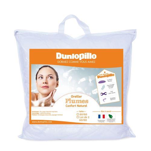 Oreiller Plumes Ferme - 60/60 - DUNLOPILLO