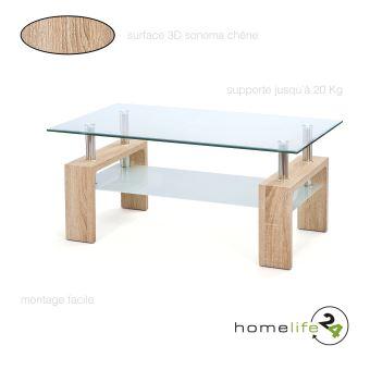 Table Basse Table D Appoint Salon Salle A Manger En Verre 2 Plateaux