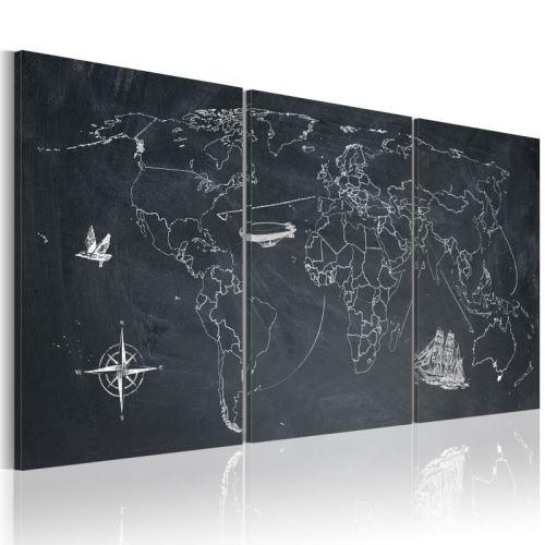 Tableau - Sur les traces de Christophe Colomb .Taille : 60x30