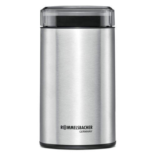 Rommelsbacher EKM 100 Moulin à café électrique à Percussion Couteau, Acier Inoxydable, 9,4 x 9,5 x 17,8 cm