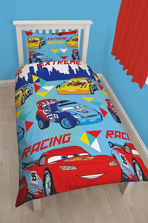 Disney Character World Les Sorciers de Waverly Place - Parure de lit simple réversible Cars- 1 personne