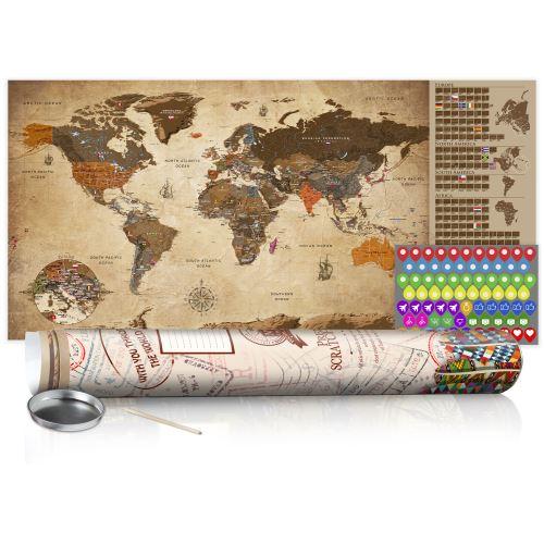 Carte à gratter - Carte vintage - poster (version anglaise) - Décoration, image, art |