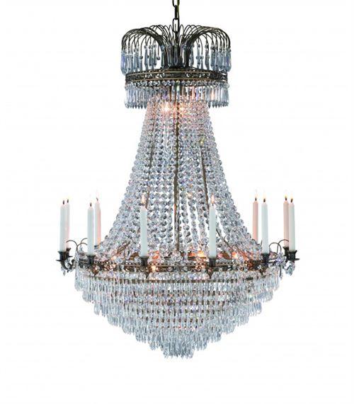Lustre en cristal LÄCKÖ antique 15 ampoules